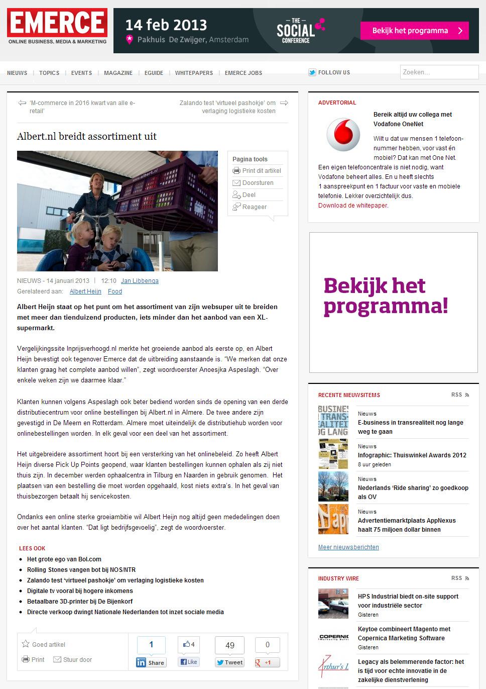 Emerce: Albert.nl breidt assortiment uit