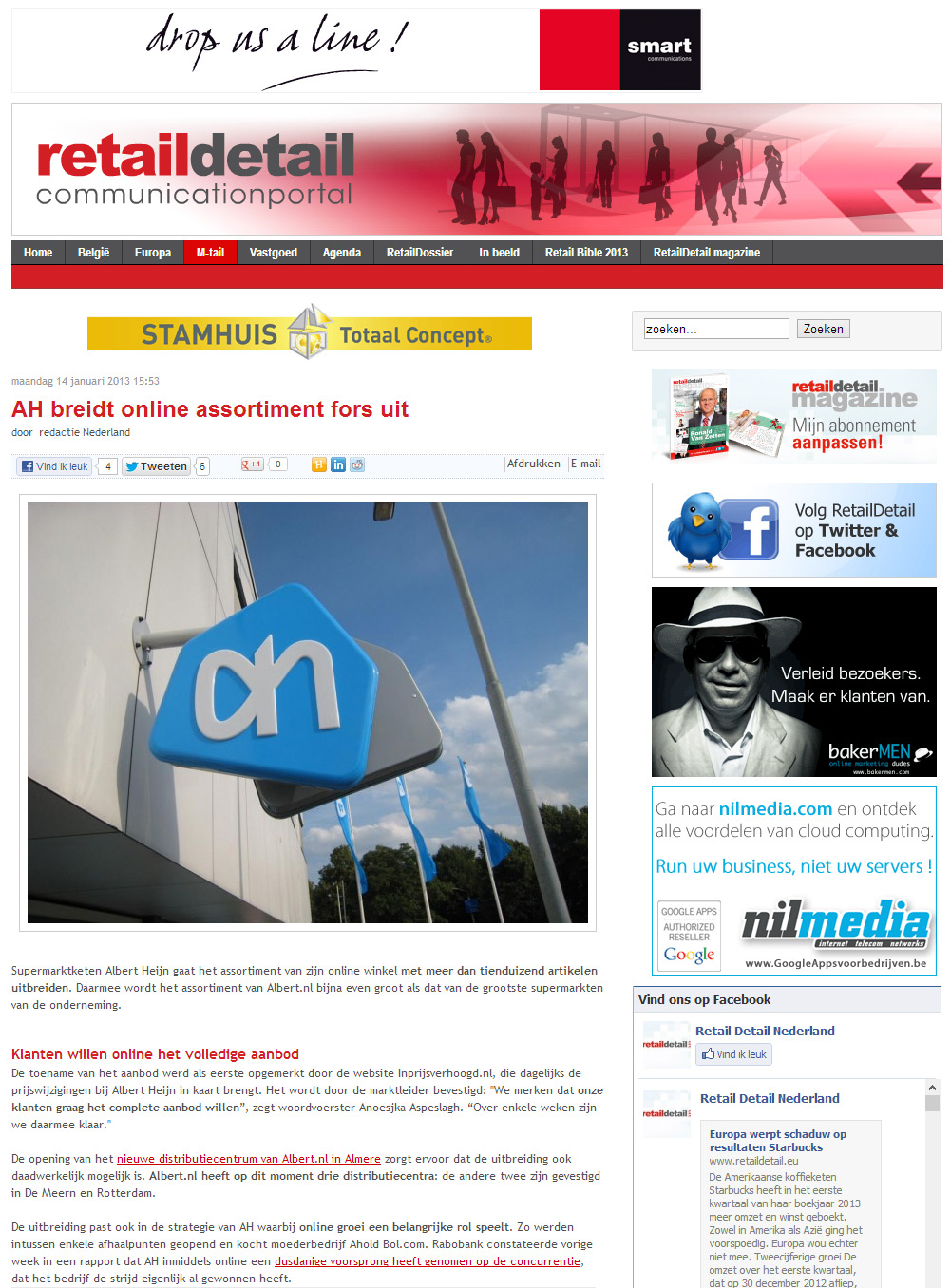 Retaildetail.nl: AH breidt online assortiment fors uit