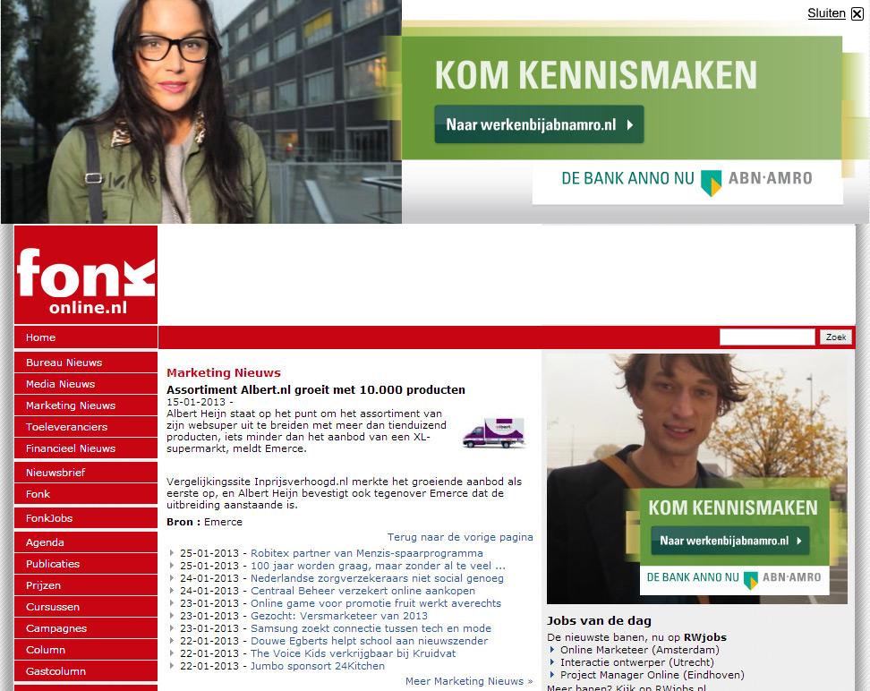 Fonkonline.nl: Assortiment Albert.nl groeit met 10.000 producten
