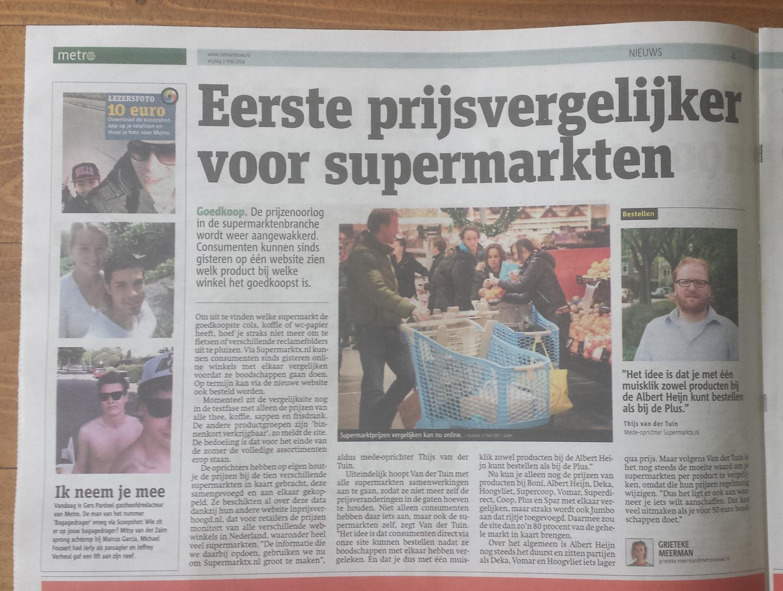 Metro: Eerste prijsvergelijker voor supermarkten