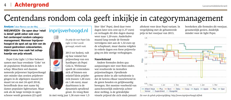 Levensmiddelenkrant: Centendans rondom cola geeft inkijkje in categorymanagement
