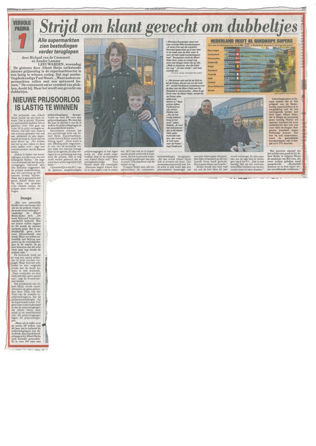 Telegraaf maart 2012
